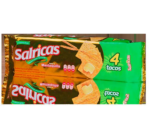 Salricas Mantequilla 4 Tacos